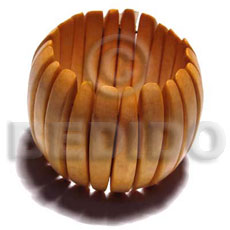 Fashion elastic nangka wood bangle wooden bangles