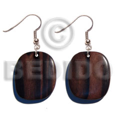 Native dangling 35mm camagong tiger wood wooden earrings