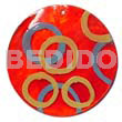 Round red 50mm capiz shell