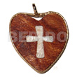 60mm textured heart bayong wood